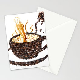 """I """"scream"""" for coffee! Stationery Cards"""