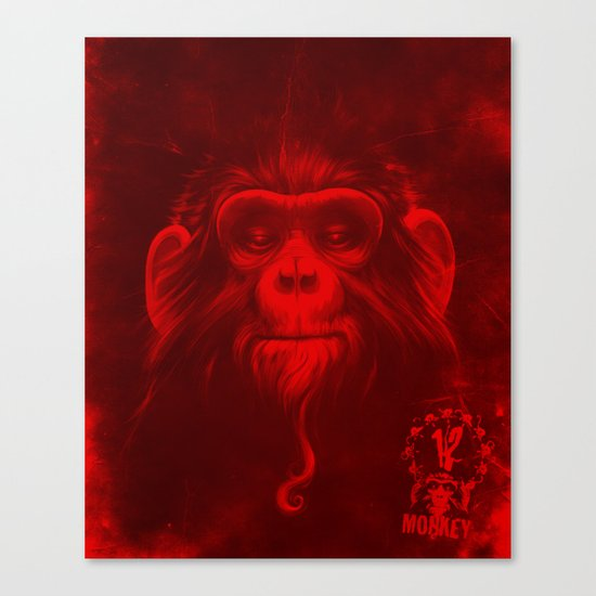 Twelfth Monkey Canvas Print