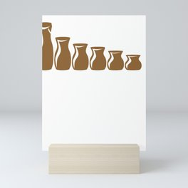 Pottery Wheel Seize the Clay Pottery Sculpting Mini Art Print