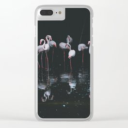 flamingos #society6 #decor #buyart Clear iPhone Case