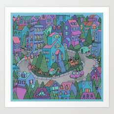 WinterWorld Art Print