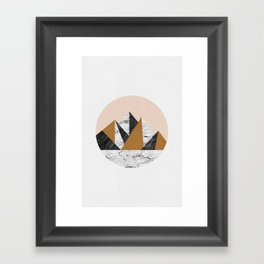Geo Landscape Circle Framed Art Print