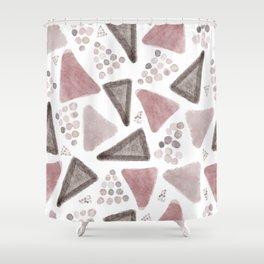 Irregular geos triangles Shower Curtain