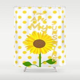Inspired Sunshine Quote Shower Curtain