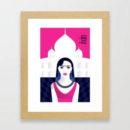 India - Stylish journey Framed Art Print