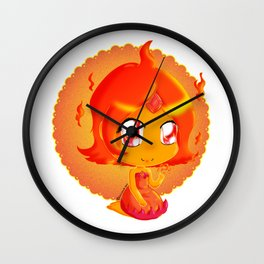Chibi Flame Princess Wall Clock