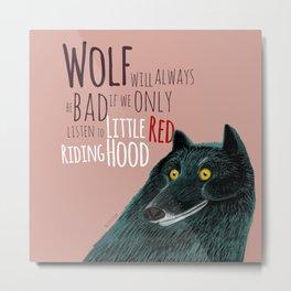 Bad black wolf Metal Print