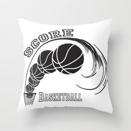 Basketball Score Throw Pillow