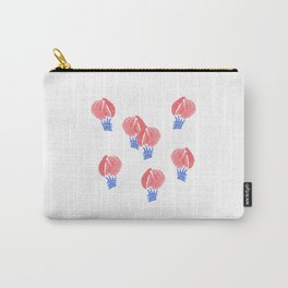 Watercolor Air Balloons on White Carry-All Pouch