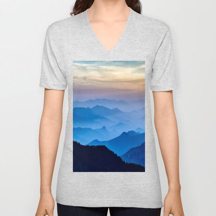 Mountains 11 Unisex V-Neck