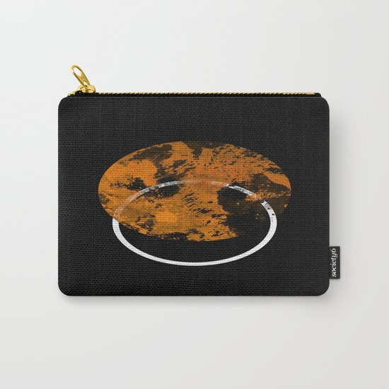 Collusion - Abstract in black, gold and white Carry-All Pouch