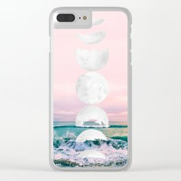 The Moon and the Tides Clear iPhone Case