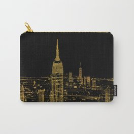 Abstract Gold City  Skyline Design Carry-All Pouch