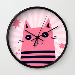 Dreaming Kitty Wall Clock
