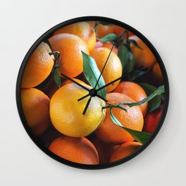 Beautiful Fruit - Oranges Wall Clock