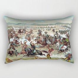 Custer's Last Stand Rectangular Pillow