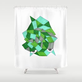 Tired Frog Shower Curtain