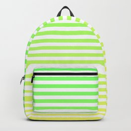 Beach Blanket - Green/Yellow Stripes Backpack