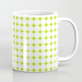 Abstract green and white pattern 01 Coffee Mug
