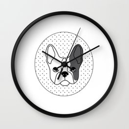 eng bulldog Wall Clock
