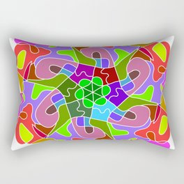 fantasy mandala abstract Rectangular Pillow