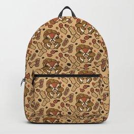 Squirrel eating peanuts Backpack