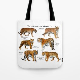 Tigers of the World Tote Bag