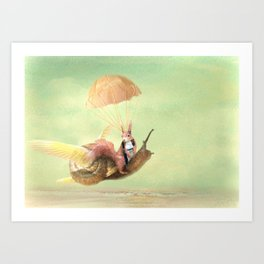 Cedric and the Golden Snail Art Print