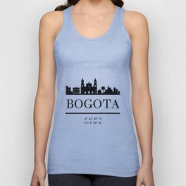 BOGOTA COLOMBIA BLACK SILHOUETTE SKYLINE ART Unisex Tank Top