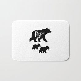 Papa Bear T Shirt with Two Cubs Bath Mat