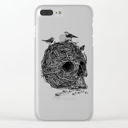 Skull Nest Clear iPhone Case
