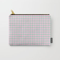 Gingham pink and forest green Carry-All Pouch