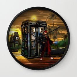 10th Doctor who Lost in the pirates age iPhone 4 4s 5 5s 5c, ipod, ipad, pillow case and tshirt Wall Clock