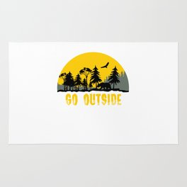 Go Outside Worst Case Scenario A Bear Kills You Nature Forest Animals Mountains Gift Rug