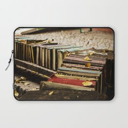 Old books on the street Laptop Sleeve