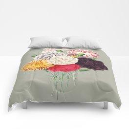 Colorful Flower Bouquet Comforters