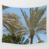palm trees Wall Tapestries featuring Palm Trees by MehrFarbeimLeben
