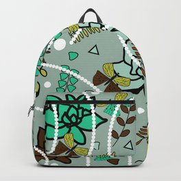 Spring butterflies, flowers and beads Backpack