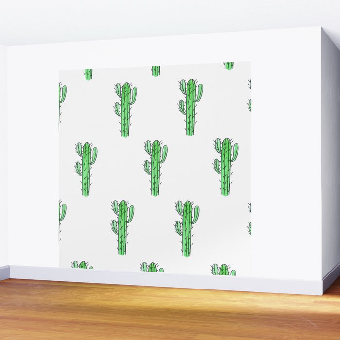 Saguaro Love II PATTERN Wall Mural