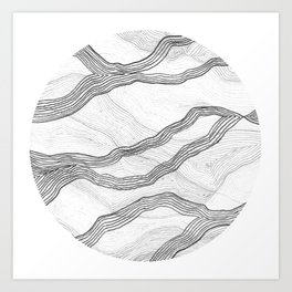 Mountainscape 7 Circle Art Print