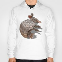 ornate Hoodies featuring Ornate Armadillo by ArtLovePassion