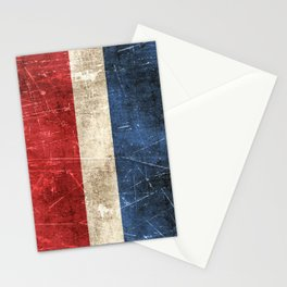 Vintage Aged and Scratched Dutch Flag Stationery Cards