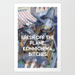 KONNICHIWA! Art Print