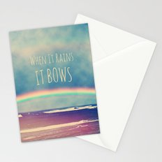 When It Rains, It Bows Stationery Cards