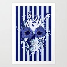 Limbo in navy color palette Art Print