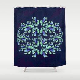 Blue drops. Shower Curtain