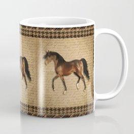 Bay trotting horse Coffee Mug
