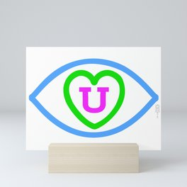 """Eye love you"" Mini Art Print"