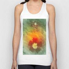 Summer floral wallpapaer. Unisex Tank Top
