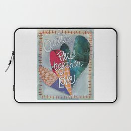 Quilters Piece Together Love Laptop Sleeve
